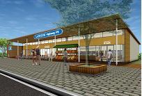 ローソンが基山PAにオープンする店舗(イメージ)