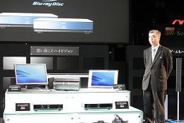 ソニーが発表したBD対応機器。2層ディスク録画機能は見送られた