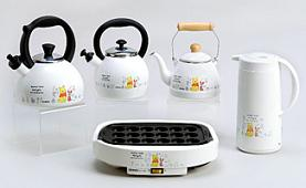 「プー&フレンドシリーズ」の電気たこ焼き器など
