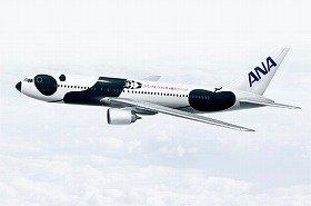 全日空が運航を始めた特別塗装機「FLY!パンダ」