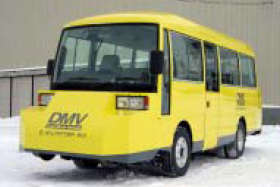 The Dual Mode Vehicle (DMV) to be operated by JR Hokkaido