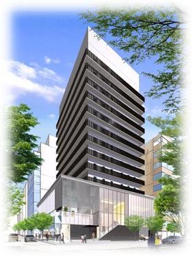 リゾートトラストが神戸に建設する大型ホテル外観