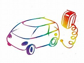 喜多さんからは天然ガス自動車家庭用充てん機と車のデザインスケッチも発表された