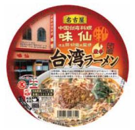 サークルKサンクスが発売するカップ麺「味仙 台湾ラーメン」
