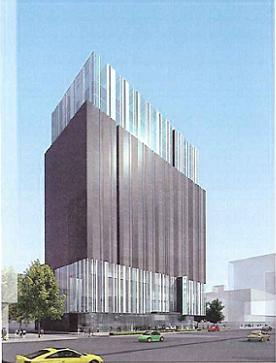 ホテルオークラが台北で開業するシティホテル外観予想図