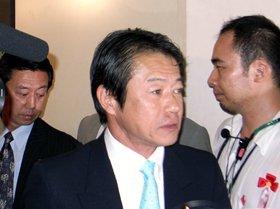 中川氏は「核保有について議論すべき」との持論を展開した(07年7月撮影)