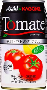 アサヒビールとカゴメが共同開発した、完熟トマトカクテル「アサヒ トマーテ」