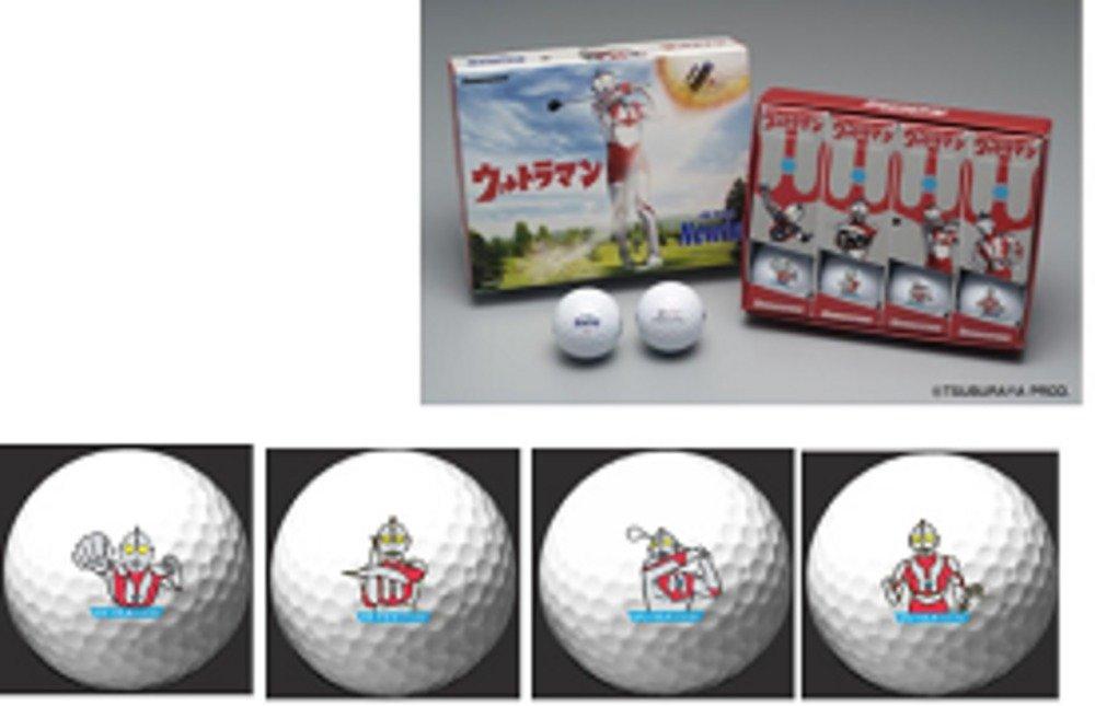 ウルトラマンの様々なポーズが描かれたゴルフボール「ウルトラマンNewing」