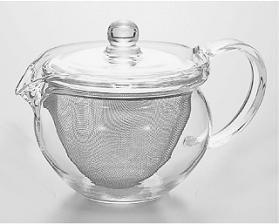 耐熱ガラスの急須「茶茶急須 丸」