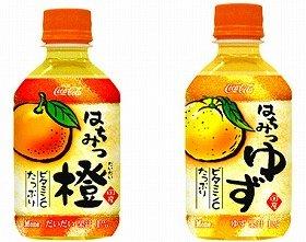 寒いときも心はあったか。「Mone はちみつ橙(だいだい)」コカコーラシステムより販売