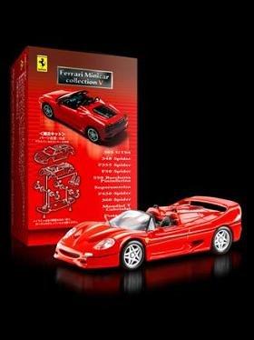 全国の「サークルK」「サンクス」で販売される「フェラーリ ミニカー コレクションV」(写真はF50スパイダー)