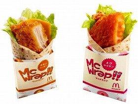 片手で食べられるようデザインされたパッケージを採用 「マックラップ チキンシーザー」「マックラップ えびサウザン」