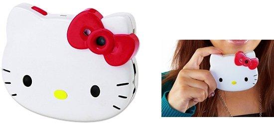 キティちゃんの頬が光る。「ハローキティフェイス形デジタルカメラ」 サンリオ