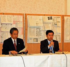 信頼回復会議が行った会見では、TBS・不二家の協議の音声が公開された