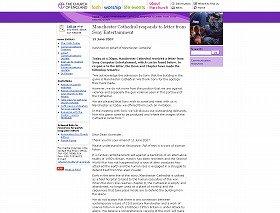 英国国教会では、ウェブサイトでSCEからの謝罪文を公表している