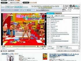 「ニコニコ動画」にも、問題の場面の動画が大量に掲載されている