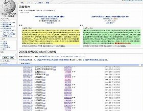 朝日の内部から、ウィキペディアの「筑紫哲也」の項目が修正されていた