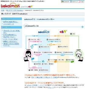 「セカイモン」のサイトでは、購買代行の仕組みが解説されている