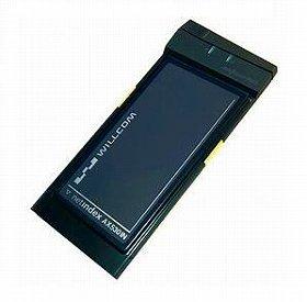 下り最大512kbpsが可能なウィルコムのデータカード「AX530IN」。実売価格は2万6000 円前後。