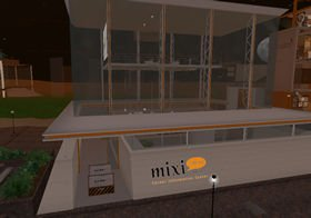 ミクシィがセカンドライフ内に建設中の「キャリア・インフォメーションセンター」