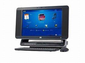 指一本で操作できる「HP TouchSmart PC」
