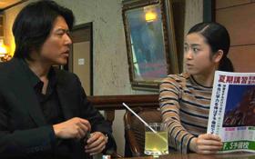 主演女優の寺島咲さんと、余命1年半を宣告された受験の神様を演じる豊原功補さん<br />(C)受験のシンデレラパートナーズ
