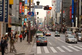 東京都心部の地価も下落傾向だ