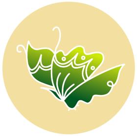 広末さんがデザインした蝶のロゴマーク。「未来と変化」をイメージしたという