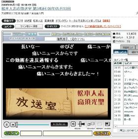 松本人志さんの「問題発言」が投稿されたニコニコ動画