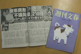 横峯良郎議員の愛人スキャンダルを報じた週刊文春の記事