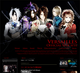 ヨーロッパで人気急上昇中のヴィジュアル系バンド「Versailles」のHP