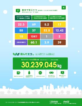CO2が日々減っていく様子がわかる専門サイト「飲んでエコ.jp」