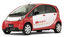 電気自動車に関心が集まっている。写真は三菱自動車が09年夏に発売予定の「アイミーブ」