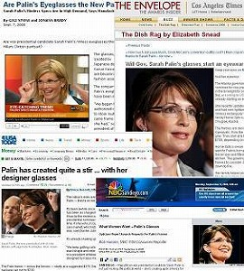 ペイリン副大統領候補の日本製メガネを報じる米メディア