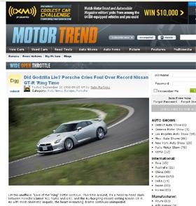 GT-Rを取り上げた豪大衆紙ヘラルドサンの記事