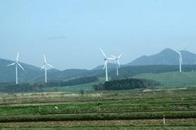 国内で使用されている風車の75%が外国製だ