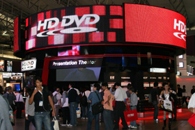 HD-DVD撤退による損失は数百億円規模だ(07年10月撮影)