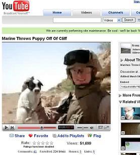 子犬を崖に投げて殺す米兵の動画に世界中から批判の声が