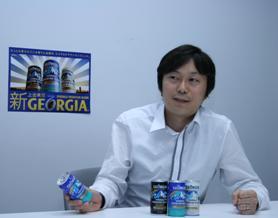 豆へのこだわりを語る日本コカ・コーラ マーケティング本部の島岡さん