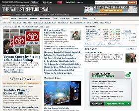 2月開設のWSJ紙アジア版サイト