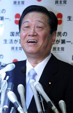 会見中、小沢代表は一見上機嫌なようにも見えた