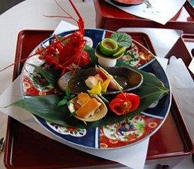 伊勢海老と夏野菜の土佐酢ゼリー