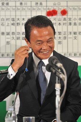 モバゲーユーザーには1番人気だった麻生太郎・自民党総裁(撮影:山本宏樹)