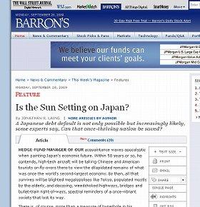日本に警告したバロンズの記事