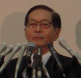 就任会見にのぞむ斎藤次郎・日本郵政社長