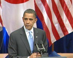 アジア・太平洋地域とのつながりを強調するオバマ大統領(代表撮影)