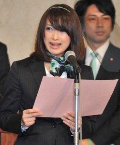 参院選出馬も噂される藤川優里市議。(代表撮影:山本宏樹)