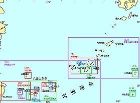 海上保安庁サイトの尖閣諸島周辺海図