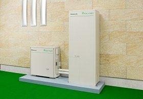 電気を使う場所でつくるエネファームのエネルギー利用率は80%にもなる