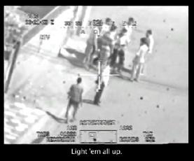 公開された機密動画。このシーンの直後に砲撃が始まる。